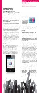 Bauhaus Internationals poster explaining the app